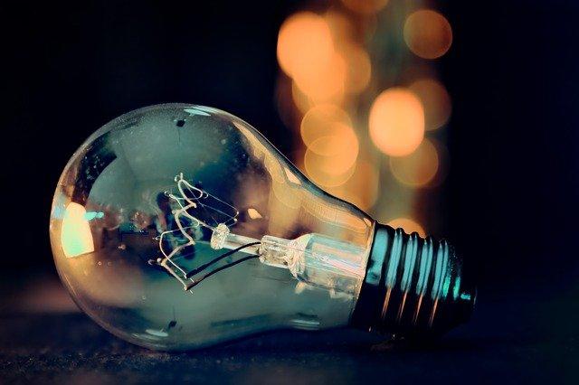 světlo za žárovkou